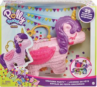 Giocattolo Polly Pocket Unicorno Magiche Sorprese Playset con Micro Bambole Polly e Lila, Giocattolo per Bambini 4+ anni. Mattel (GVL88) Mattel