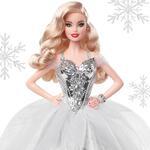 Barbie Magia delle Feste 2021, Bambola da collezione in abito argento. Mattel (GXL18)