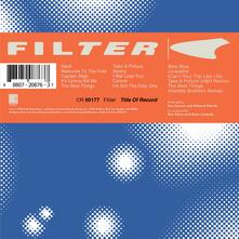 Title of Record - CD Audio di Filter