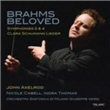 Sinfonie n.2, n.4 / Lieder - CD Audio di Johannes Brahms,Clara Schumann,Orchestra Sinfonica di Milano,John Axelrod