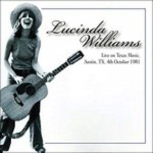 Live on Texas Music, Austin Tx 04-10-1981 - Vinile LP di Lucinda Williams