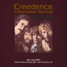 Live at Fillmore West Close Night July 4 1971 Ksan fm - Vinile LP di Creedence Clearwater Revival