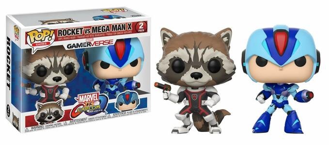 Funko POP! Games Marvel vs. Capcom Infinite. Rocket vs MegaMan X 2-PACK