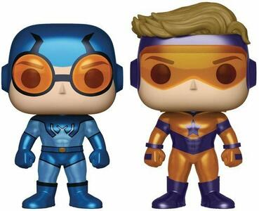 Funko POP! DC. Blue Beetle & Booster Gold Metallics 2-Pack