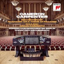 Rapsodia su un tema di Paganini / Concerto per organo - CD Audio di Francis Poulenc,Sergej Vasilevich Rachmaninov,Christoph Eschenbach,Cameron Carpenter