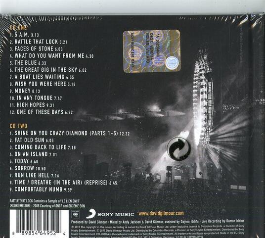 Live at Pompeii (Digipack) - CD Audio di David Gilmour - 2