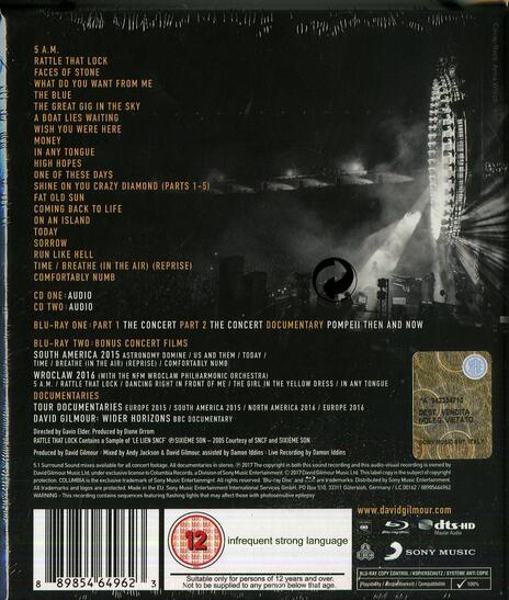 Live at Pompeii (Box Set) - CD Audio + Blu-ray di David Gilmour - 2