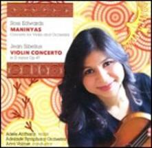Concerti per violino - CD Audio di Jean Sibelius,Ross Edwards,Adele Anthony