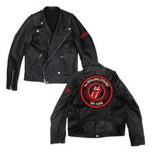 Giacca Moto Unisex Rolling Stones. Zc15 Leather