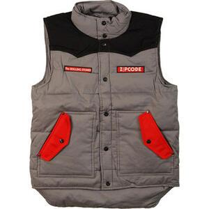 Piumino Senza Maniche Unisex Rolling Stones. Zc 15 Black-grey Contrast Puffer Vest