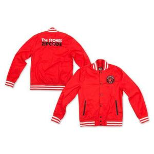 Giacca Unisex Rolling Stones. Zc15 Red Cotton Varsity