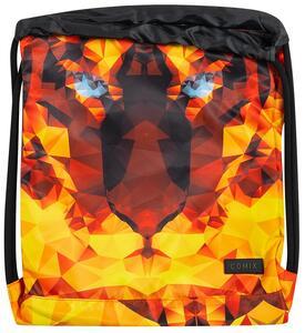 Zaino coulisse con zip Comix Special Tiger Edition Arancione