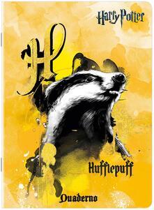 Quaderno maxi A4 Harry Potter Tassorosso (Tassofrasso). Quadretti piccoli 4 mm