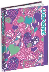 Diario Seven 7.1 Girl 2019-2020, 16 mesi, giornaliero mini Fantasy. Rosa-Viola