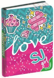 Diario Seven SJ Gang Girl 2019-2020, 10 mesi, giornaliero Love. Azzurro-Fucsia