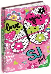Diario Seven SJ Gang Girl 2019-2020, 10 mesi, giornaliero Love You. Rosa