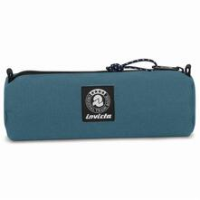 Astuccio tombolino Invicta Nose Pencil Bag Plain Avion. Blu petrolio