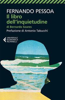 Il libro dell'inquietudine di Bernardo Soares - Fernando Pessoa - copertina