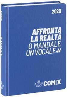 Diario Comix 2019-2020, 16 mesi, standard giornaliero Blu chiaro scritta bianca