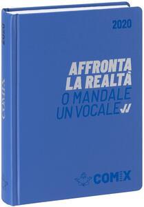 Diario Comix 2019-2020, 16 mesi, standard giornaliero Blu chiaro scritta argento