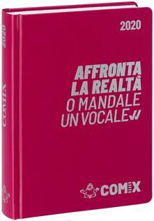 Diario Comix 2019-2020, 16 mesi, standard giornaliero Bordeaux scritta argento