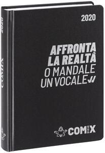 Diario Comix 2019-2020, 16 mesi, mini giornaliero Nero scritta argento