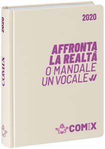 Diario Comix 2019-2020, 16 mesi, mini giornaliero Bianco scritta rosa