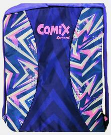 Zaino coulisse con zip Comix Extreme Viola-Fucsia