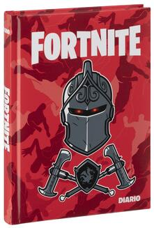 Diario Fortnite 2019-2020, 12 mesi, Black Knight. Rosso