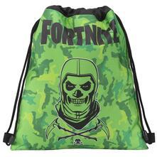 Zaino coulisse Fortnite Skull Trooper. Verde
