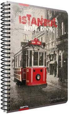 Quaderno maxi A4 con spirale Cartomania Metropol a quadretti Istanbul
