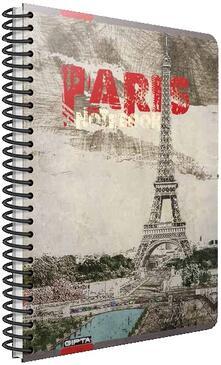 Quaderno maxi A4 con spirale Cartomania Metropol a quadretti Parigi Torre Eiffel