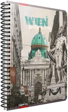 Quaderno maxi A4 con spirale Cartomania Metropol a quadretti Vienna