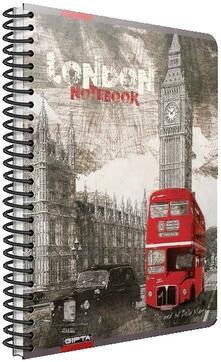 Quaderno con spirale Cartomania Metropol a righe Londra London Bus - 17x24