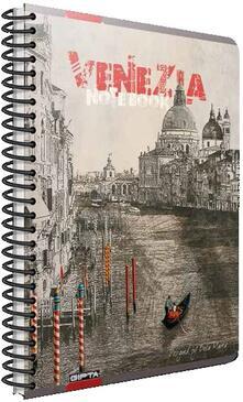 Quaderno con spirale Cartomania Metropol a quadretti Venezia - 17x24