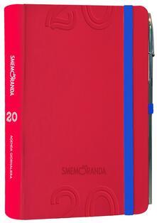 Agenda Smemoranda 2020, 12 mesi, giornaliera Soft Rosso - 13x18,5