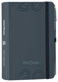 Agenda Smemoranda 2020, 12 mesi, giornaliera Soft Nero - 13x18,5