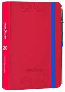 Agenda Smemoranda 2020, 12 mesi, giornaliera Soft Rosso - 10x14,5