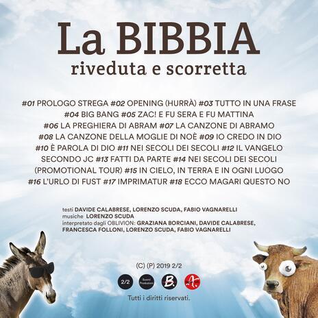 La Bibbia riveduta e scorretta. Le canzoni dello spettacolo - CD Audio di Oblivion - 2