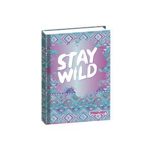 Cartoleria Diario Seven Girl 2020-2021, Standard 16 mesi, Standard Wild Feeling. Azzurro Seven