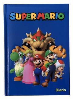 Cartoleria Diario SuperMario 2021-2022, 12 mesi Standard Blu - 13,5x18,5 cm Panini