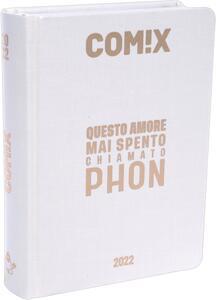 Cartoleria Diario Comix 2021-2022, 16 Mesi Mini Pearl - Bianco Perla Comix