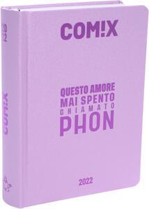 Cartoleria Diario Comix 2021-2022, 16 Mesi Mini Soft Pink - Viola Comix