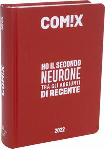 Cartoleria Diario Comix 2021-2022, 16 Mesi Mini Deep red - Rosso Comix