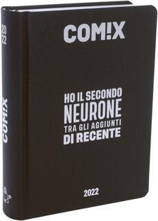 Cartoleria Diario Comix 2021-2022, 16 Mesi Mignon Black & Silver - Nero e Grigio Comix