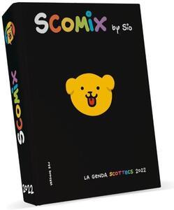 Cartoleria Agenda Comx Scottecs by Sio 2021-2022, 16 Mesi Medium Nero Comix
