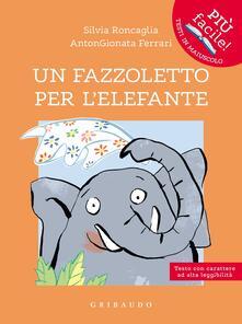 Un fazzoletto per l'elefante -  Silvia Roncaglia, AntonGionata Ferrari - copertina