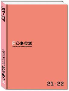 Cartoleria Diario Fedez 2021-2022, pocket, 16 mesi, corallo Seven