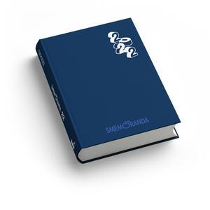 Cartoleria Diario Smemoranda 2021-2022, 16 mesi, Blu, bianco  - 10 x 13,6 cm Smemoranda