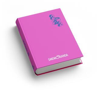 Cartoleria Diario Smemoranda 2021-2022, 16 mesi, Rosa, blu  - 10 x 13,6 cm Smemoranda